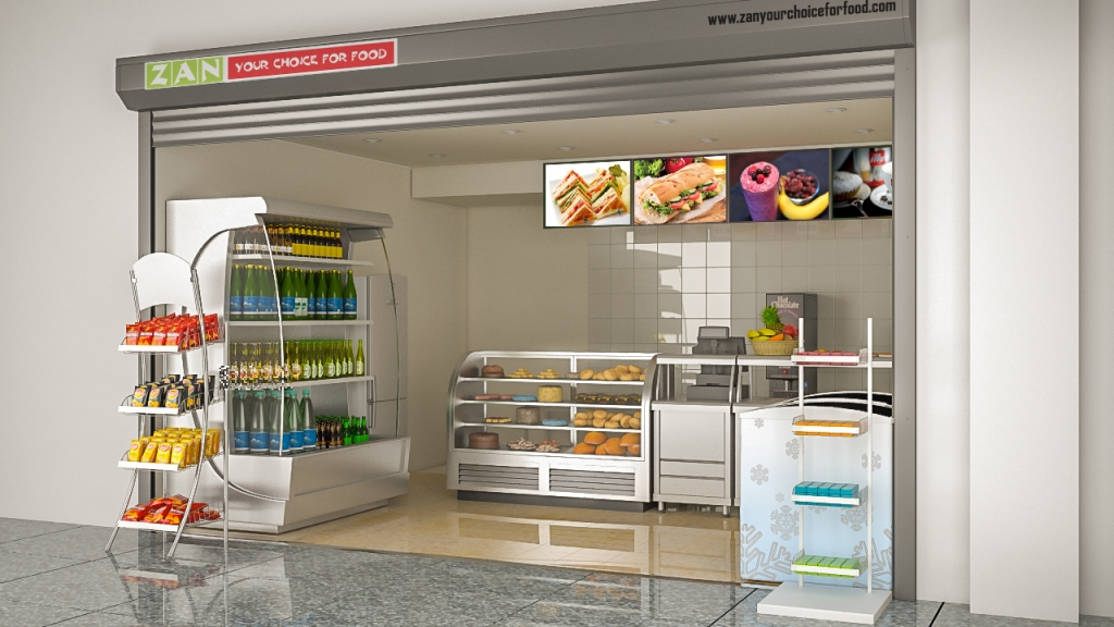Zan Foods Customer Centric Location Concept 3D Front