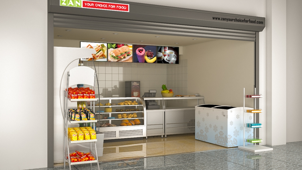 Zan Foods Customer Centric Location Concept 3D Side