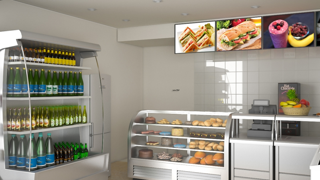 Zan Foods Customer Centric Location Concept 3D Interior Zoom